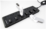 13 Port USB 2.0 Hub with Individual Switches and Power Adapter