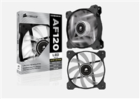"""Corsair """"Air Series"""" Air Flow 120 Quiet Edition White LED Case Fan"""